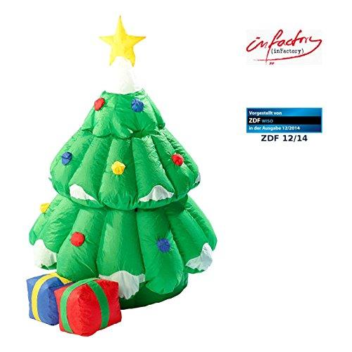 er Tannenbaum: Selbstaufblasender XXL Weihnachtsbaum mit animiertem Santa (Aufblasbarer Christbaum) ()
