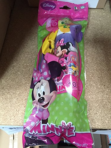 Kit Bomba y 10 globos multicolor Minnie