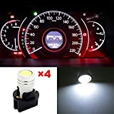 Water & Wood 4x High Power PC194 1-Epistar LED Instrument Cluster Lamp Light White Replace