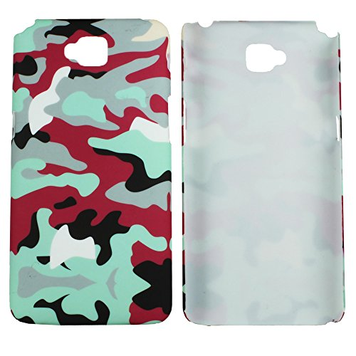 Heartly Army Style Retro Color Armor Hybrid Hard Bumper Back Case Cover For LG G Pro Lite D686 D684 Dual Sim - Hot Red  available at amazon for Rs.249