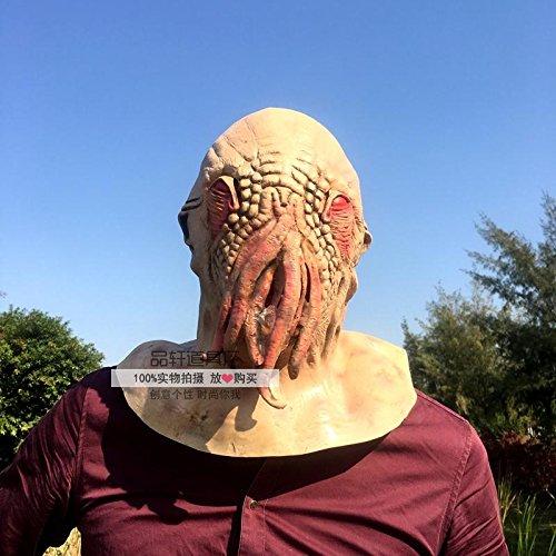 Halloween Horror Maske Funny Scary Alien Kopfbedeckung Teufel Haus Party Kleid, Requisiten (Alien Requisiten)