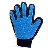 Cristoferv Pet Bade Handschuhe Blauer Hund Saubere Pet Massage Handschuhe (Richting Hand) 1 Pieza