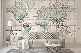 Papel Pintado Pared 3D Fotomurales-140CM×100CM(ancho×alto) Mapa Del Mundo Retro Personalidad Sala De Estar Dormitorio Tv Fondo Decoración De Pared