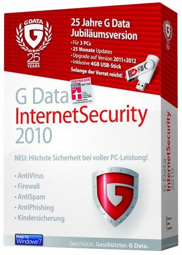 G Data InternetSecurity 3PC, 25 Monate Updates, inkl. 4 GB USB Stick