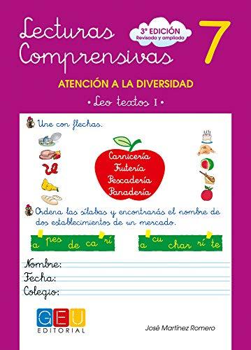 Lecturas comprensivas 7 - Leo Textos I por José Martínez Romero