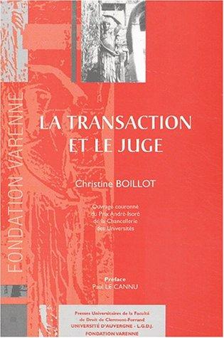 La transaction et le juge