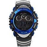 Pixnor ALIKE AK5106 50M Waterproof Sport Students Digital Wrist Watch with Date Alarm Timer Night Light (Blue)