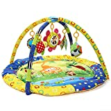 Zicac - Gimnasio para bebés con manta acolchada juegos y música Mantén entretenido a tu bebé con diferentes actividades Diseño princesa de dibujos animados y patrón de flores