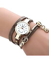 Feitong - Reloj con pulsera de metal y correa para mujer, de moda, novedad, mujer, Feitong, negro