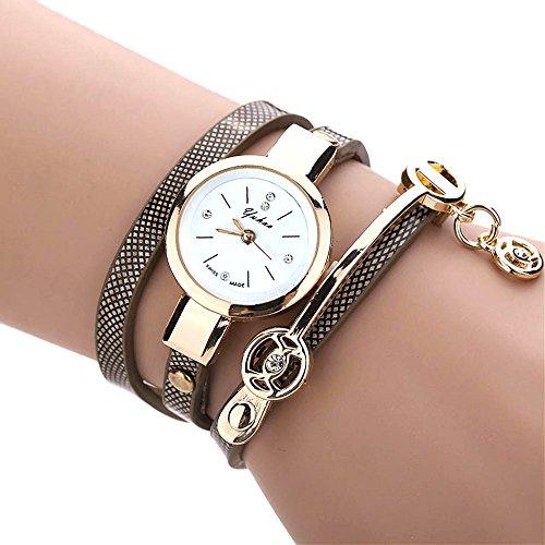 Feitong – Reloj con pulsera de metal y correa para mujer, de moda, novedad
