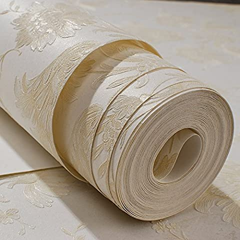ZYONG*Le lussuose camere da letto wallpaper 3D stereo goffrato carta da parati di goffratura soggiorno lo spessore di parete di ultra-forte m giallo