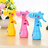 #6: Foreign Holics Beautiful Design Water Fan Toy for Kids Play Deer Shaped Safe Portable Mini Fan (2 pcs)