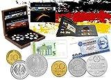 IMPACTO COLECCIONABLES Monete della Germania - 19 Monete e 2 Banconote, Collezione 25 Anniversario della Caduta del Muro di Berlino