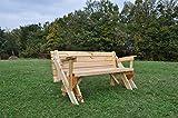 Plegable banco y mesa de picnic Combo | material: madera de pino | completamente de madera construcción | banco tamaño: 150(L) X 60(W) X 70(H) cm de tamaño | banco (Extended): 150(L) X 120(W) X 70(H) cm | asientos: 3A 6| peso: 35kg