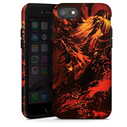 Apple iPhone X Silikon Hülle Case Schutzhülle Doro Feuer Blitz Tough Case glänzend