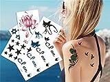 Adulte enfant star faux tatouage tatouage temporaire nouveaux petits autocollants mignons (20)