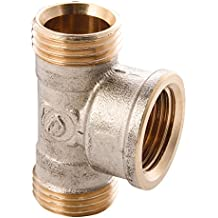 Wiroflex T de pieza anillo atornillado Fitting para tubo multicapa, 1pieza, 3/4a X 3/4IG x 3/4a, cromo, 260190