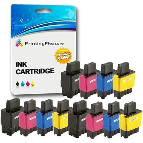 12 Cartucce d'inchiostro compatibili per Brother DCP-110C, 115C, 117C, 120C,