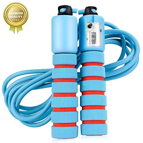 Vegena Springseil Speed Rope Mit Zähler Und Komfortablen & Anti-Rutsch Griffen für Workout,...
