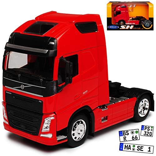 Volvo FH Rot Zugfahrzeug 2 Achser LKW Truck 3. Generation Ab 2013 1/32 Welly Modell Auto