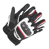 Büse Safe Ride Motorradhandschuhe 9 Schwarz/Weiß/Rot