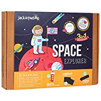Space Themed STEM Educational Craft Toy for Boys and Girls | 3 Activities-in-1 Kit | Best Gift for kids Aged 7-10 years old | Top Creative Learning Game (3-in-1)