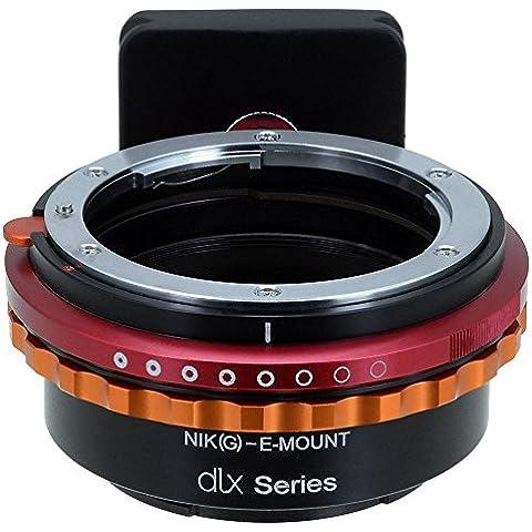 Fotodiox DLX Series adaptador, Nikon G Lens (including: AI, AI de S, AF de D, etc.) to Sony E Mount Mirrorless Camera Mount Adapter–For Sony Alpha E Mount Camera Bodies (APS de c & Full Frame Such AS NEX-7, & # x3B1; 5100, & # x3B1; 7R