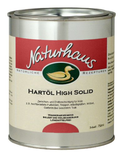 Preisvergleich Produktbild NATURHAUS NATURFARBEN Hartöl High Solid, 1 Stück, Farblos, 750 ml