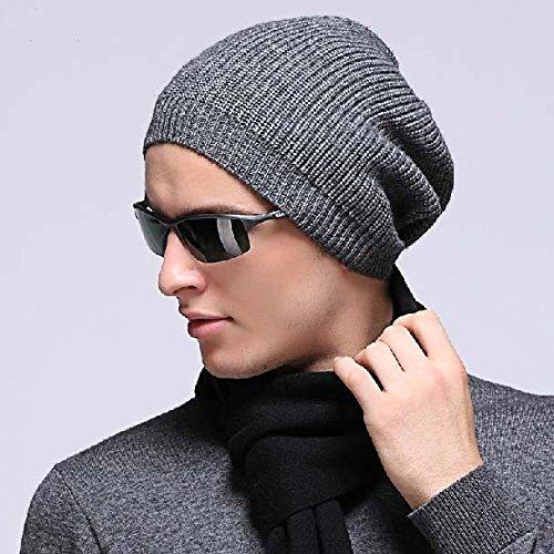 Top Hot Winter Wolle-Mischgewebe Strickmütze Beanie Chunky trendige Slouchy Beanie, Bergsteigen, Angeln, Jagd Gap, Skaten Beanie