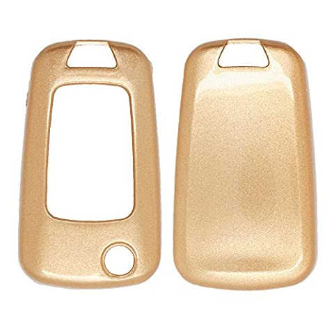 Metallic Paint Key Case Shell Cover fit for CHEVROLET BUICK Flip Remote Key Gold