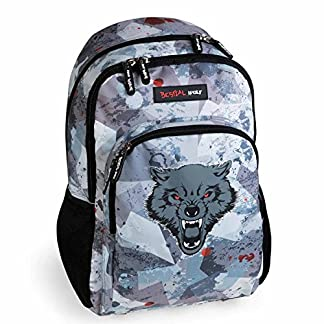 Busquets Mochila Escolar Doble Bestial Wolf by DIS2