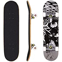 WeSkate Skateboards Pro 31 inches Complete Skateboards for Teens Beginners Girls Boys Kids Adults, 9 Layer Maple Wood Skateboard