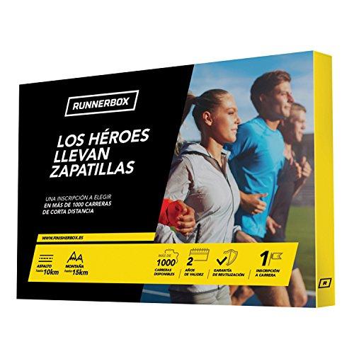 RunnerBox - Caja Regalo para Runners - LOS HÉROES Llevan Zapatillas - regala una Carrera Running - más de 1000 en España