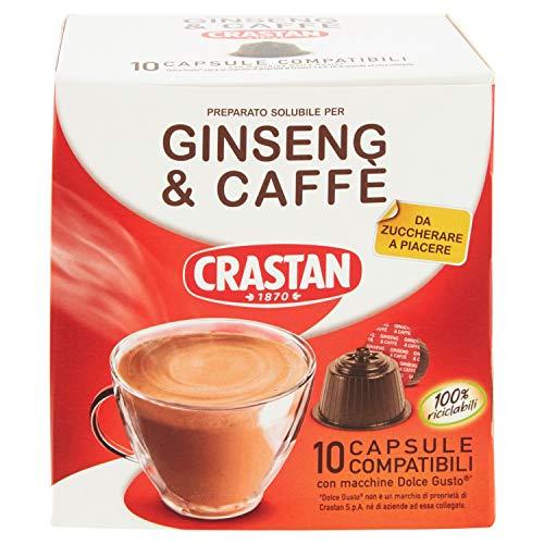 60x Crastan caffè Ginseng & Kaffee Dolce e gusto pads Kapseln KAFFEEKAPSELN