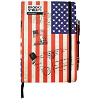 USA Flag Notebook - Hardback A5