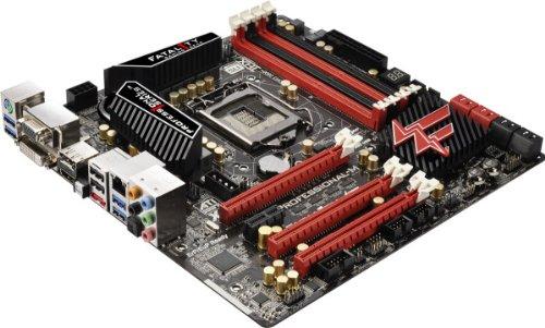 ASRock Z77 Professional-M Sockel 1155 Mainboard (Micro ATX, Intel Z77, 4X DDR3 Speicher, DVI-D, HDMI, 4X SATA III, 5X USB 3.0) -