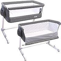 Beistellbett Babybett Kinderbett Babywiege Stubenwagen Höhe und Neigung einstellbar Lux-Bed