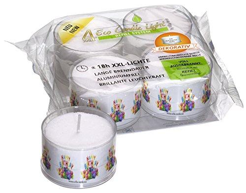 Smart Planet® Velas Ambiente-4Eco grandes velas XXL en funda transparente con Happy Birthday Diseño-Vela de cumpleaños (rellenable