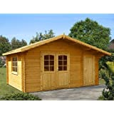 Gartenhaus LISA Blockhaus 470cm x 350cm - 35mm Gartenlaube Holzhaus Holzlaube
