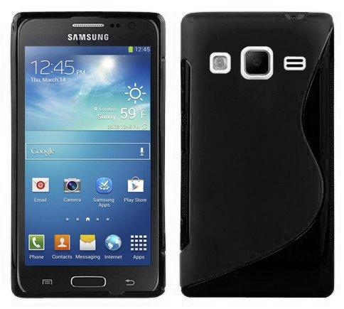 Preisvergleich Produktbild Cadorabo Hülle für Samsung Galaxy EXPRESS 2 - Hülle in OXID SCHWARZ – Handyhülle aus flexiblem TPU Silikon im S-Line Design - Silikonhülle Schutzhülle Soft Back Cover Case Bumper
