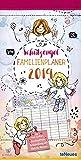Schutzengel 2019 - Familienkalender, Familien-Terminplaner, Kinderkalender - 23 x 45,5 cm