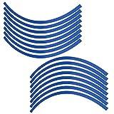 Qiilu Autocollant Jante Pneu Bande réfléchissante 6 Color pour Moto Vélo Voiture(Bleu)