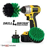 Drillbrush All Purpose Bagno Superfici doccia, vasca, e le mattonelle Power Kit Scrubber spazzola di pulizia medio-verde