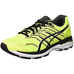Asics Gt-2000 5 - Scarpe da Corsa Uomo, Giallo (Safety Yellow/Black/Silver), 43.5 EU