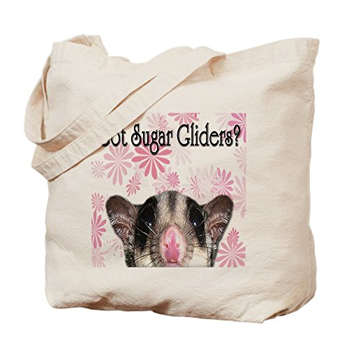 CafePress-Got Zucker Gleiter mit Blume-Leinwand Natur Tasche, Reinigungstuch Einkaufstasche Tote S khaki -