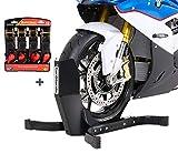 ConStands Easy Plus Deluxe - Motorradwippe inklusive 4-Fach Spanngurt-Set für Anhänger |...