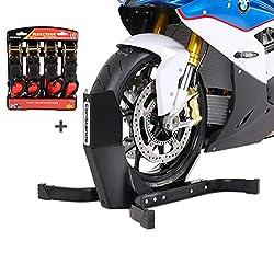 Motorradwippe mit Ratschen-Spanngurten Set für Suzuki Intruder M 800/1500/ 1600/1800 R/ 2 ConStands Easy Plus