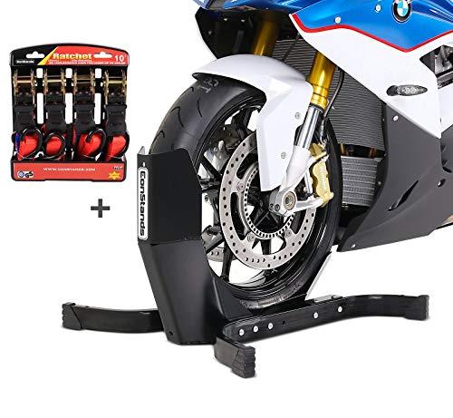 Preisvergleich Produktbild Motorradwippe mit Ratschen-Spanngurten Set für Benelli BN 302 / R,  TNT R / 160,  TRK 502 ConStands Easy Plus