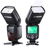 Neewer TR-988 - Flash para cámaras digitales SLR Canon y Nikon alta Velocidad Sync Rebel SL1 XT Xti Xsi T1i T2i T3i T4i T5i XS T3i EOS 5D Mark II 2 III 3 1Ds 6D 7D 60D 50D 40D 30D 300D 100D 350D 400D 450D 500D 550D 600D 650D 700D 1000D 1100D ; para Nikon D4S D4 D3S D800 D700 D80 D90 D7000 D7100 D50 D40X D60 D5000 D5100 D5200 D5300 D40 D3000 D3100 D3200 D3300