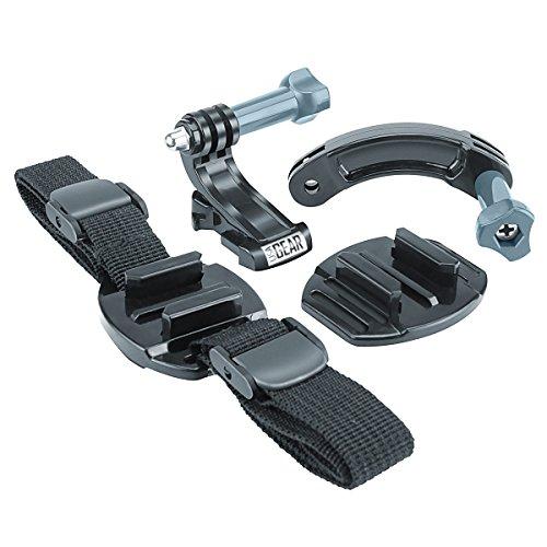 Kit Accesorios Casco para GoPro SJ4000 y otras - Por USA GearEstés haciendo ciclismo, BMX, kayak, esquí, surf, escalada, paracaidismo o otros deportes similares, ¡siempre podrás inmortalizar tus sensaciones fuertes! La correa flexible se adapta a cua...